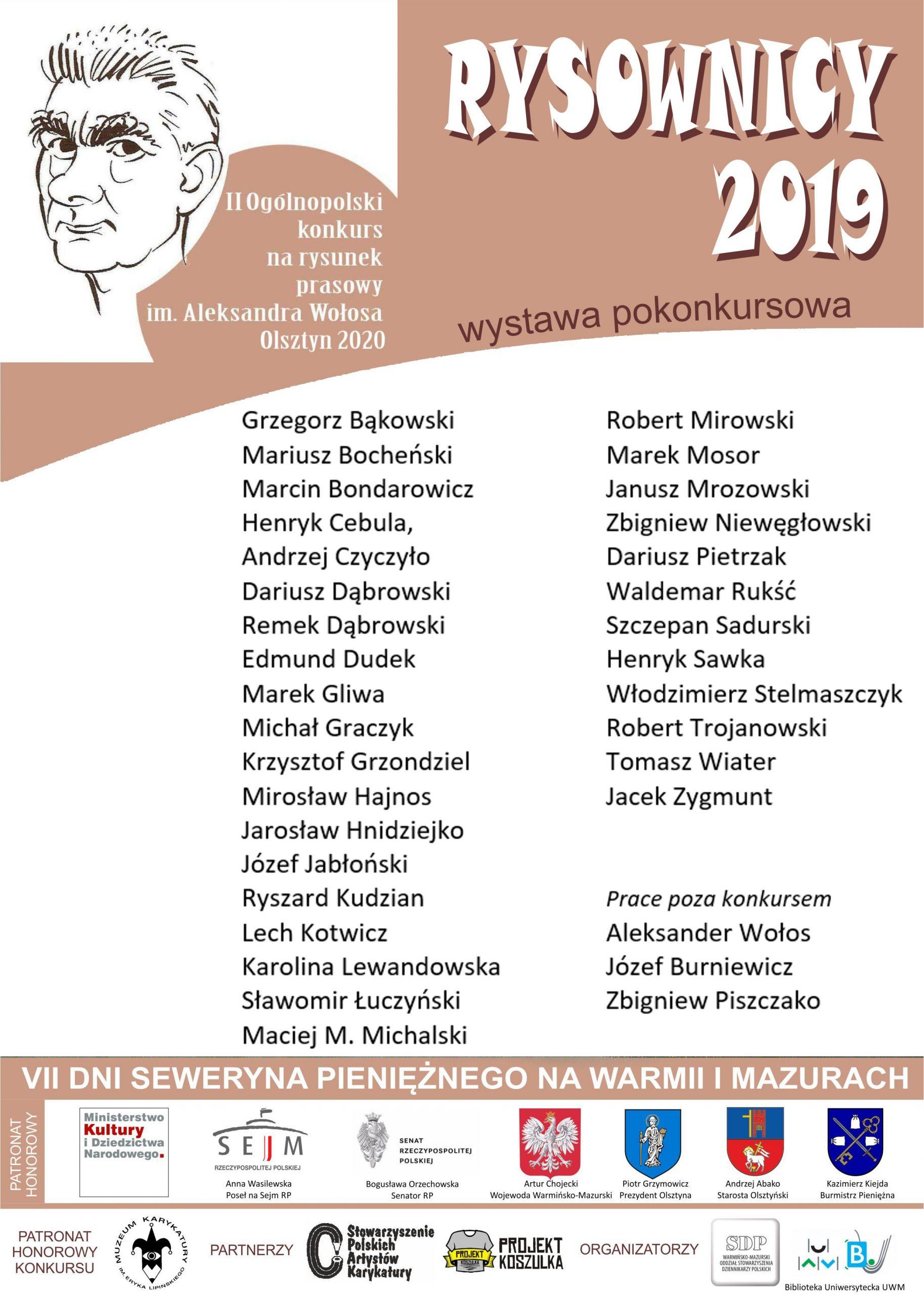 Plakat uczestnicy Wołos 2019